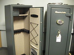 Open & Closed Typical Gun Safe